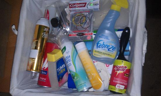 Tu Tu Tun Lodge: basket of toiletries for us to use