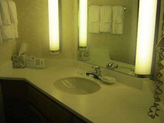Residence Inn Rochester West: Sink/Dressing area of Bathroom