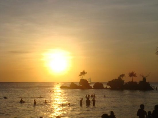 Bluelilly Hotel: lovely sunset of Boracay