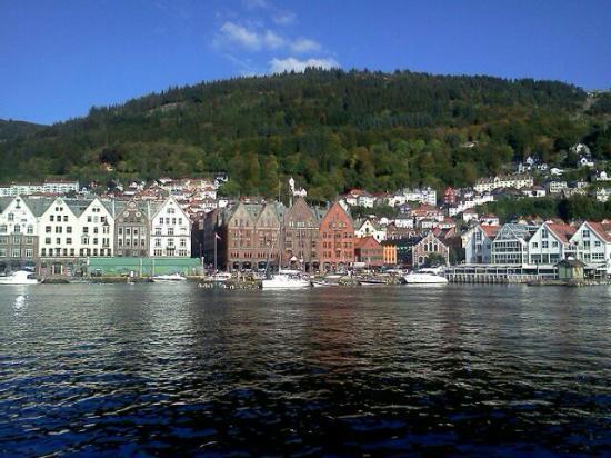 Bergen Apartments: la vue du port...