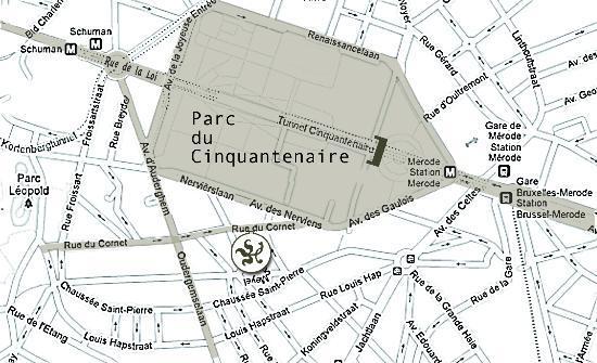 A Cote du Cinquantenaire: Location: Schuman, Cinquantenaire Park