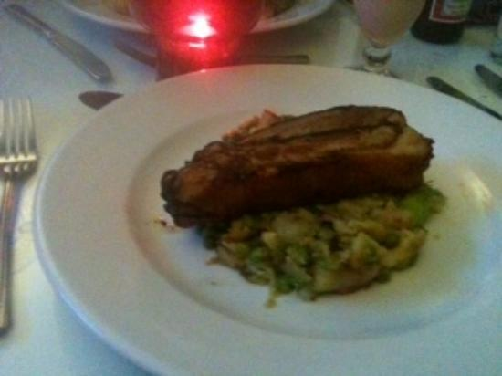 Cascades Restaurant : Pork on a bed of Bubble & Squeak.