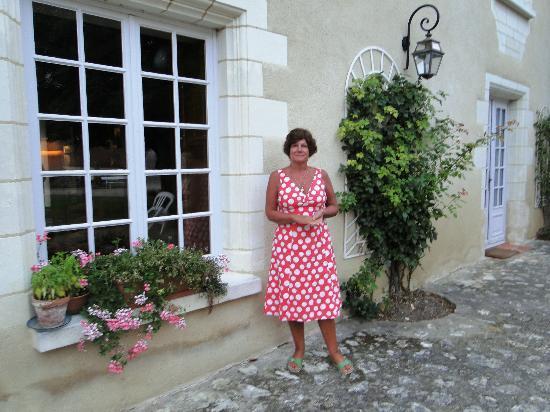 Manoir de Chaix: on the terrace