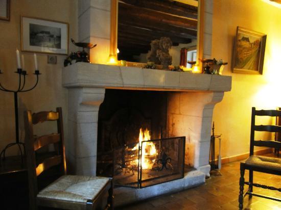 Manoir de Chaix: Lovely wood fire