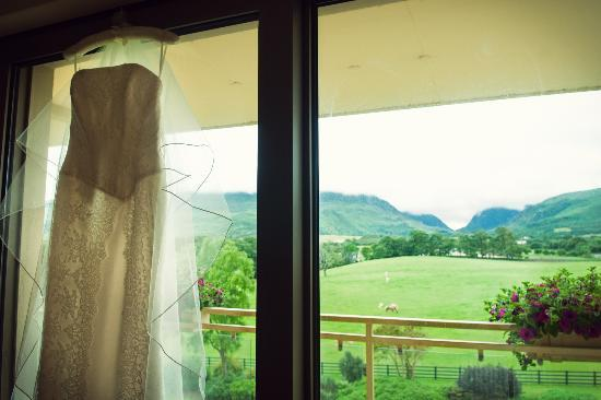 The Dunloe: View from bedroom of the Gap of Dunloe