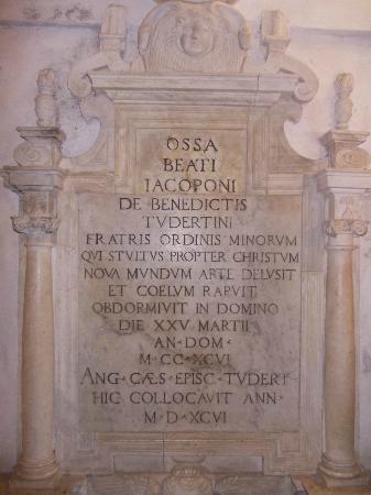 Chiesa di San Fortunato: san fortunato - tomba jacopone da todi 