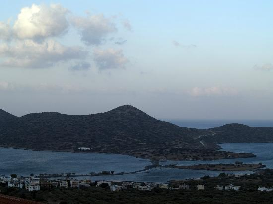 Elounda Residence: View to Spinalong Peninsula from balcony