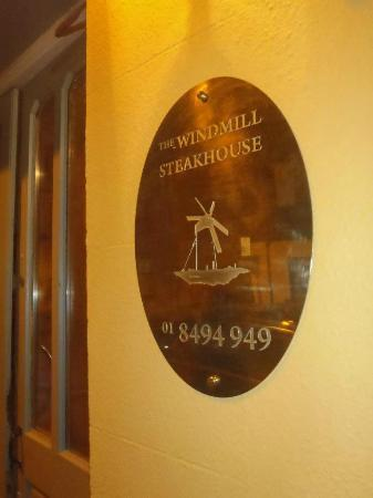 Windmill Seafood & Steakhouse: Entrance Sign