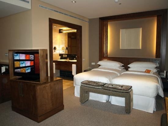 eurostars suites mirasierra comfortable bed with rotatable tv stand