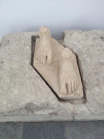 Archaeological Museum: feet