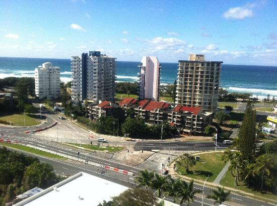 ‪‪Surfers Paradise Marriott Resort & Spa‬: Partial ocean view‬