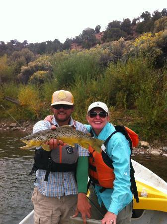 Cutthroat Anglers: Teresa and Adam (our guide)