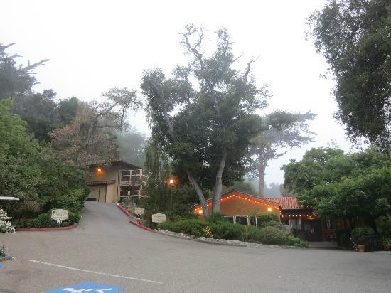 Sycamore Mineral Springs Resort and Spa: GiftShopは駐車場の一番奥です。そこから坂を登ってすぐに一番安い宿泊棟があります。坂の手前左側がフロント・レストランのある棟です。