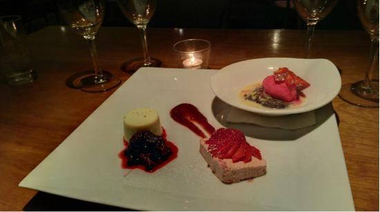 Metro Kitchen: Assiette of Desserts - we chose 3 minis - poached pear yummy - all were!