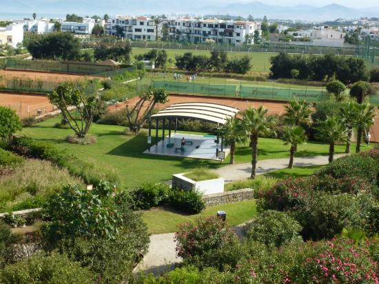 Club Med Yasmina: Fitness et practice vue de la terrasse