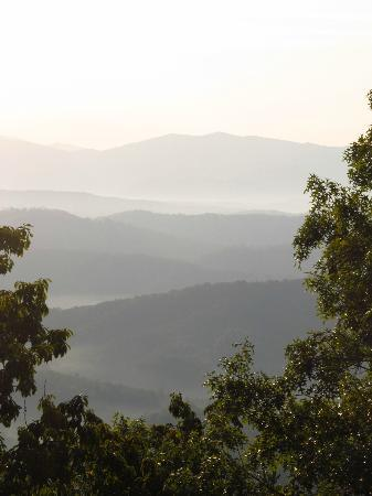 Chilhowee Mountain Retreat: Well they don't call them the Smoky Mtns for nothing! Gorgeous!