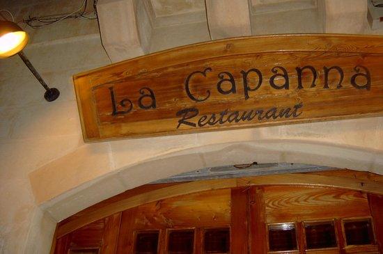 La Capanna: La scritta