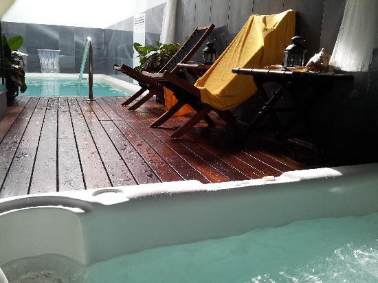 Palacio San Bartolome: piscina