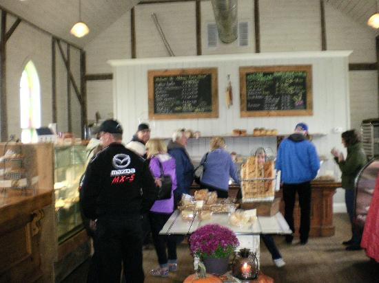 Abbey's Bakehouse : A few members of are group looking over the selections.