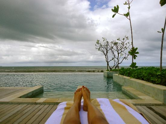 The Seminyak Beach Resort & Spa: view from infinity pool