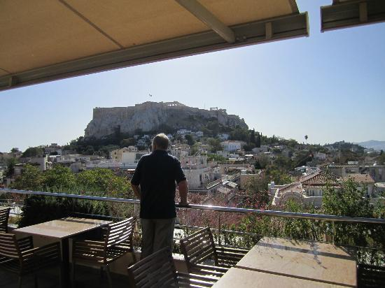 Electra Palace Athens : acropolis view from rooftop