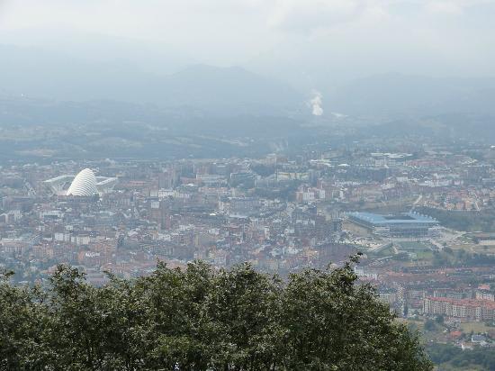 Monte Naranco: Vista desde el Naranco destacan el Palacio de Congresos y el Carlos Tartiere