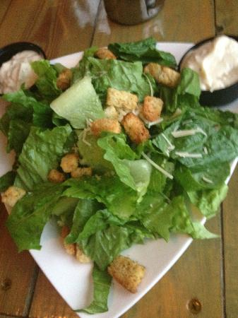 Port Of Call Restaurant: 'Dinner'-size Caesar salad.