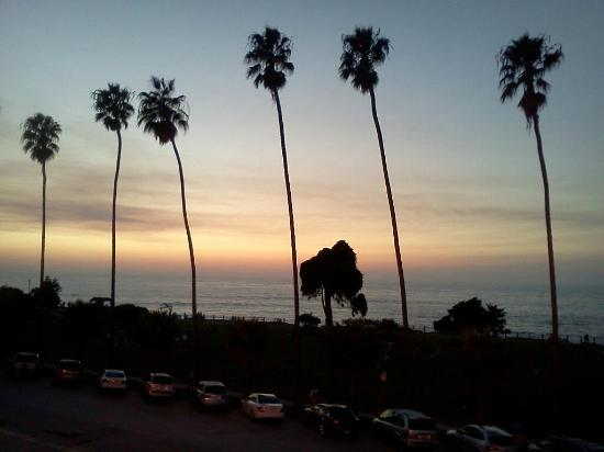 La Jolla Cove Suites: here is a view from our balcony at sunset