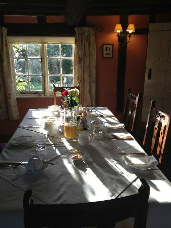 Holly Tree House: Breakfast table in sunshine
