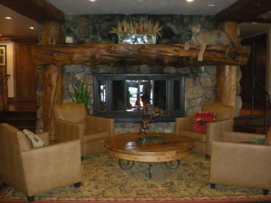 Snake River Lodge and Spa: Cozy lobby