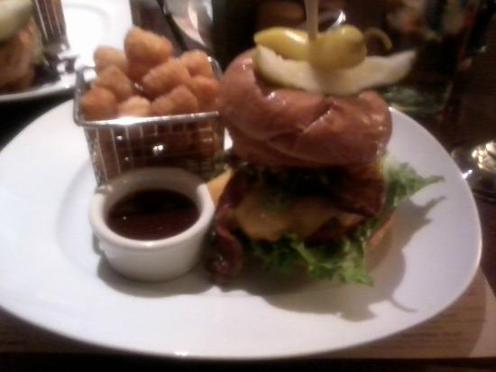 The Phoenician, Scottsdale: Relish Burger Bistro - The Cowboy... YUMMY! Look at the little basket of tater tots