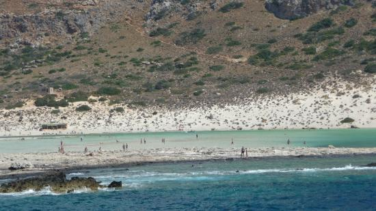 Hotel Delfina Beach: Le lagon de Gramvoussa à l'ouest de la Crète