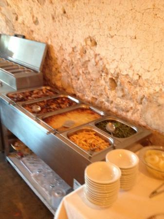 Petit Hotel Hostatgeria Sant Salvador: Abendessen Buffet bei Halbpension