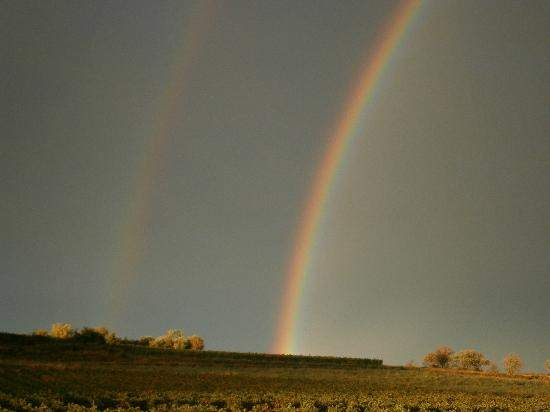 Double rainbow over Domaine La Veronique