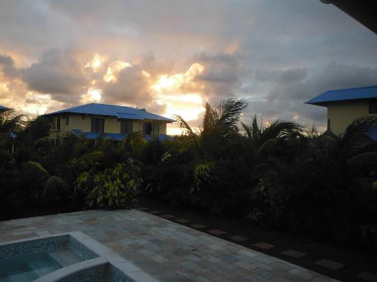 Orchid Villas Mauritius: couché de soleil