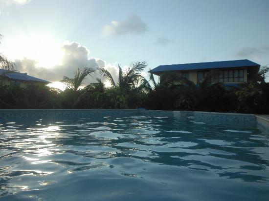 أوركيد فيلاز موريشيوس: vue de la piscine 