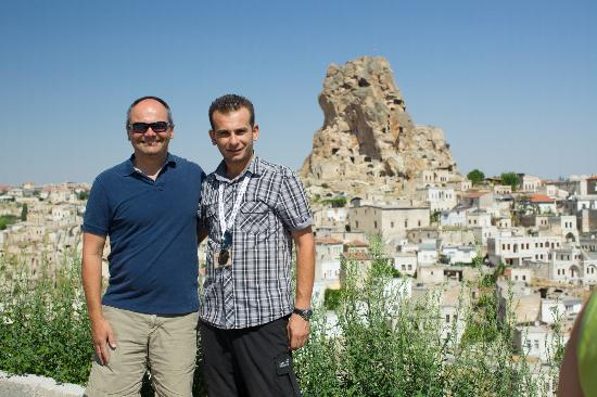 Travel Atelier Private Tours: Todd, the birthday boy and Ismail the guide in Turkey