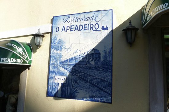 Restaurante Apeadeiro: The tiled board outside