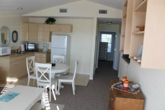 Seashells in Cedar Key Florida: Kitchen/Dining Upper