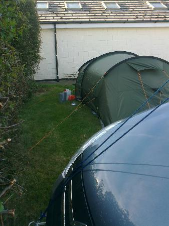 Norman's Bay Camping And Caravanning Club: Our pitch - very little space for tent guy ropes.