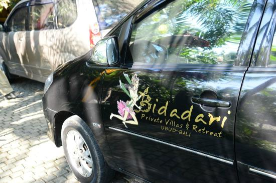 Bidadari Private Villas & Retreat: transport to Ubud