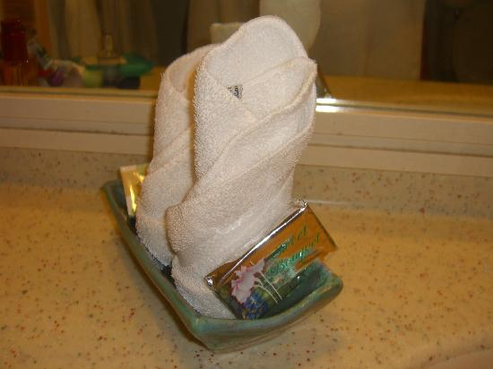 Rostrevor Hotel: flannels and soap dish, art!