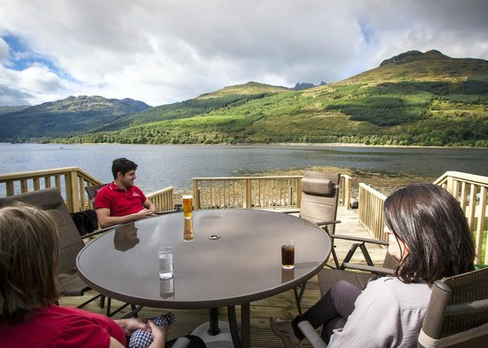 Lochside Guest House: View from the decking area
