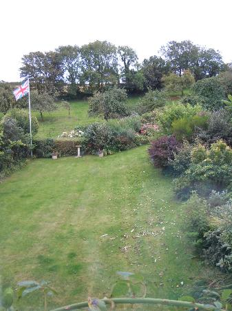 Youngcombe Farm: Part of garden looking to Orchard