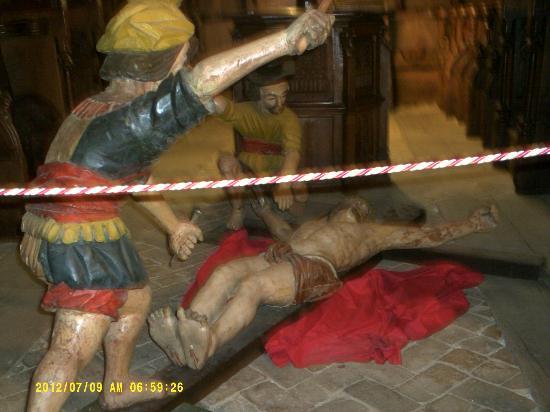 La Cathedrale Notre-Dame de la Nativite de Vence : Escultura em Madeira