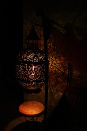 El Morocco Inn & Day Spa: Our favorite lamp