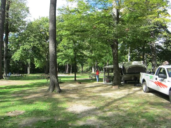North Beach Campground: By Sunday afternoon, most campers have cleared out