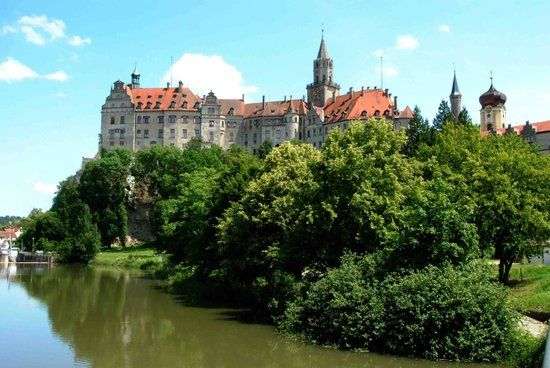Sigmaringen castle, and the Danube