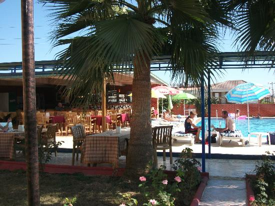 Ozgurhan Hotel: pool and dining area