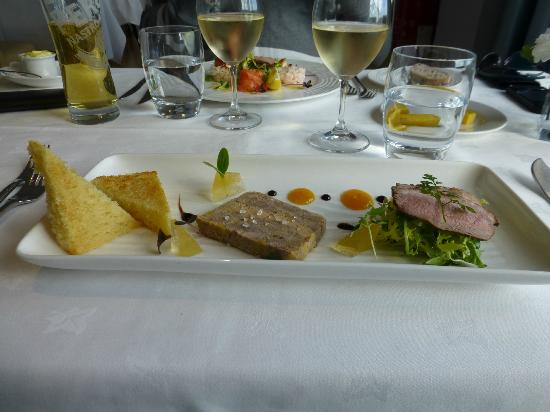 La Fregate Hotel: Chix and Foie Gras terrine